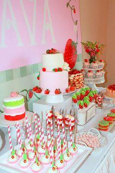 Strawberry Shortcake / Birthday Avas Strawberry Shortcake Party   Catch My Party