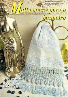 ! Álbum da Artesã: Toalha com Barrado em Macramê + Recadinhos