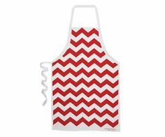 Chevron Red New Trend 100% Cotton Apron Annabel Trends Quality Mother's Day Gift