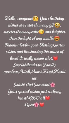 Amazing Birthday Wishes Quotes - quotes fulltimetraveler Happy Birthday Wishes Bestfriend, Short Birthday Wishes, Thank You For Birthday Wishes, Happy Birthday For Her, Happy Birthday Quotes For Friends, Birthday Girl Quotes, Birthday Wishes Messages, Birthday Wishes Best Friend, Happy Birthday Status