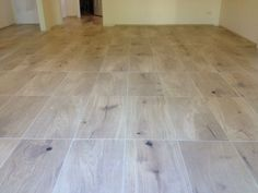 Floor: Timber Look Cushioned Edge Ceramic Tiles 600 x 300mm. Light ...