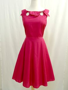 Floral Dress 1950s Style Full Skirt Reversible by GeminaeClothing, $100.00