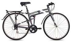 New Montague Urban Folding Pavement Hybrid Bike Smoke Silver - Great value for the price, definitely recommend.This Montague that is ranked 1196776 Used Bikes, Cool Bikes, Mountain Bicycle, Mountain Biking, Road Bike Women, Bicycle Maintenance, Cool Bike Accessories, Bike Seat, Cycling Equipment