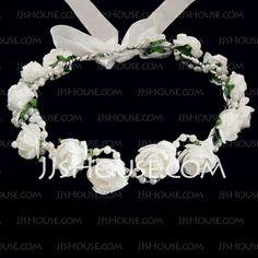 Headpieces - $6.49 - Lovely Foam/ Paper Flower Wedding Flower Girl Wreath/ Headpiece (042025214) http://jjshouse.com/Lovely-Foam-Paper-Flower-Wedding-Flower-Girl-Wreath-Headpiece-042025214-g25214