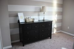 want to do stripes like this on one the baby's room walls.  :)
