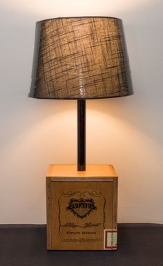 Cigar Box Lamp II Manly Things, Cigar Boxes, Grain Sack, Sacks, Cigars, My Etsy Shop, Table Lamp, Home Decor, Table Lamps