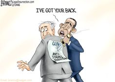 After Obama said he had Israel's back went ahead and abstained to vote against the U.N. Anti-Israel resolution. Political Cartoon by A.F. Branco.