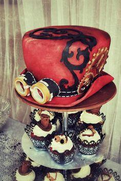 Steampunk cake & cupcakes
