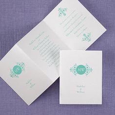 Swirling Splendor - Petite Invitation - White Shimmer