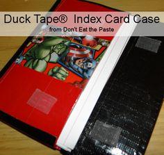Duck Tape index card case tutorial #back2school #tapecraft #DuckTapeAtWalmart