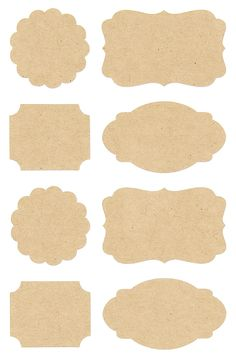 Pack of 32 kraft label stickers in four different styles. Scallop and rectangle stickers measure across and the larger label stickers measures across. These gorgeous stickers are perfect for using on cards and gifts or for sea Printable Labels, Printable Stickers, Cute Stickers, Label Stickers, Bullet Journal School, Bullet Journal Ideas Pages, Journal Stickers, Planner Stickers, Handmade Tags