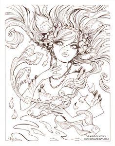 Chasing Dreams inks by KelleeArt.deviantart.com on @deviantART
