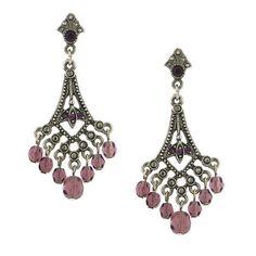 Morado & Silver Purple Chandelier Earrings, 1928 Jewelry, $30