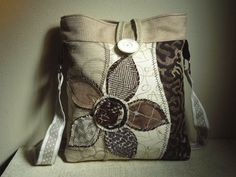 CROSSBODY HOBO Bag Neutral Ivory Sand Brown  by WhimsyEyeDesigns, $60.00
