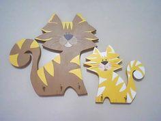 Porta chaves gatinhos by Atelie Samara Ferreira