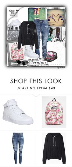 """Fine style"" by tess-302 ❤ liked on Polyvore featuring NIKE, Vans, H&M, La Garçonne Moderne, Kate Spade, nice, friends, swag, fine and TeenGirl"