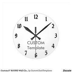 Custom  Round Wall Clock Ryan  Wall Clocks Clock And Ryan ONeal