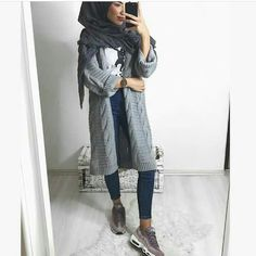 Check out our collections of Beautiful hijabs www. Check out our collections of Beau Modern Hijab Fashion, Hijab Fashion Inspiration, Muslim Fashion, Modest Fashion, Girl Fashion, Fashion Outfits, Hijab Outfit, Modest Outfits, Casual Outfits