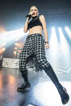Gwen Stefani performs in Paris in 2012.  Someday I want those abs, not the part about performing in Paris (although I wouldn't say no)!