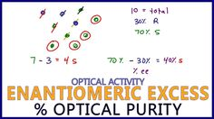Enantiomeric Excess Percent Optical Purity Calculations and Logic Video Library, Organic Chemistry, Study Tips, Science And Nature, Tutorials, Videos, Science And Nature Books, College Tips, Wizards