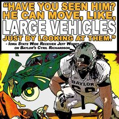 This is what a fellow Big 12 player thinks of #Baylor football's Cyril Richardson. #SicEm (via BUFootball on Twitter)