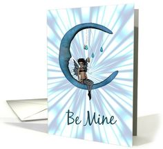 Be Mine-Valentine's Day-Fairy On Blue Half... | Greeting Card Universe