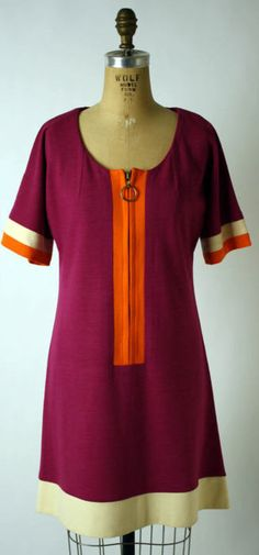 Mary Quant dress ca. 1966 via The Costume Institute of the Metropolitan Museum of Art Sixties Fashion, Mod Fashion, Vintage Fashion, Mary Quant Dress, Vintage Dresses, Vintage Outfits, Vintage Clothing, 1960s Dresses, Mode Hippie