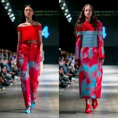 Yilin & Stella in red looks. 📸 by Guillaume Roujas #näytös17 #idasofiatuomisto