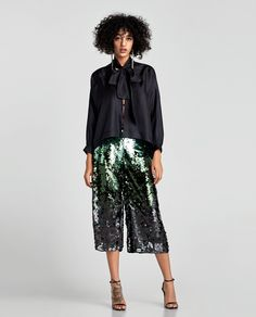 ZARA - EDITORIALS - SEQUINNED TROUSERS
