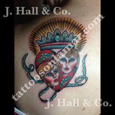Josh Hall   #mrhalltattooer  972-863-3518  #crown #heart