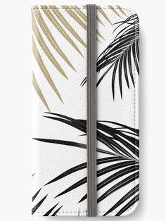 """Gold Black Palm Leaves Dream #1 #tropical #decor #art"" iPhone Wallets by anitabellajantz | Redbubble"