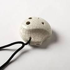 6 Hole Tai Chi Pendant Ocarina– Ceramic - White Crackle Finish– Soprano G – Focalink -Perfect Travel Companion - Easy to Play – Free Tutorial & Songbook Included Ocarina Music, Making Musical Instruments, Ceramic Techniques, Music And Movement, Clay Design, Character Creation, Tai Chi, Gifts For Family, Wearable Art