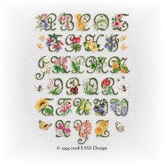 Flower Garden on Good Life 2 Go  Free Cross Stitch Chart  Garden Alphabet