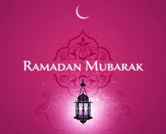Print these individual letters with the back ground design on all of them and print Ramadan Mubarak