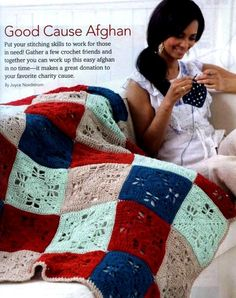 Good Cause Afghan free crochet graph pattern