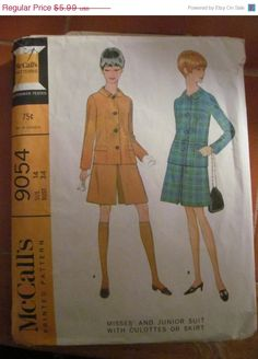 SALE 1967 McCall's Printed Sewing Pattern 9054 by EarthToMarrs, $4.79