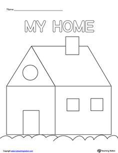 **FREE** House Scissor Practice Worksheet.Practice scissor skills by building a house in this printable worksheet.