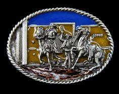 Western Saloon Indians Cowboys Horses Rodeo Belt Buckle Boucle De Ceinture #western #westernbeltbuckle #westernbuckles #rodeo #coolbuckles