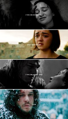 """""""He used to muss my hair and call me little sister."""" Arya & Jon, Ned & Lyanna """"He used to muss my hair and call me little sister. Arte Game Of Thrones, Game Of Thrones Meme, Game Of Thones, Valar Morghulis, Best Series, Tv Series, Arya Stark, Winter Is Coming, Got Memes"""