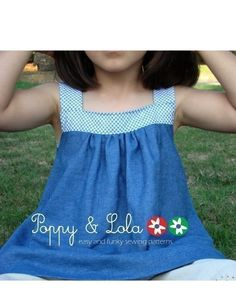 instant download  Blue Flowers Top/Dress PDF Email by poppylola, $5.95