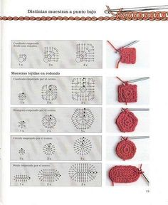 Photo from album Iniciacion al ganchillo libro 01 on Yandex.Disk how to crochet differen Photo from album Iniciacion al ganchillo libro 01 on Yandex.Disk how to crochet different figures Crochet Motifs, Crochet Diagram, Crochet Chart, Crochet Squares, Crochet Basics, Bead Crochet, Crochet Stitches, Granny Squares, Diy Crochet Projects