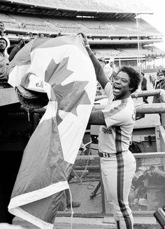 Warren Cromartie celebrates the 1981 Expos playoff berth.
