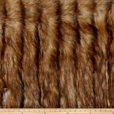 Amazon.com: Luxury Faux Fur Wild Coyote Honey Fabric By The Yard