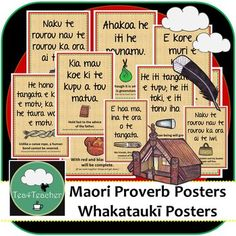 Te Reo Maori Whakatauki Proverb Posters about Life & Learning Bilingual Woven Life Learning, Learning Colors, Learning Resources, Classroom Posters, Classroom Displays, Classroom Decor, Proverbs For Kids, Word Wall Labels, Flashcards For Kids
