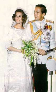 Constantine and Anne Marie on their wedding day