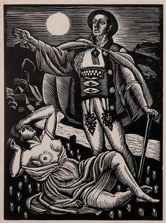 Władysław Skoczylas - Scena miłosna, 1929 r.