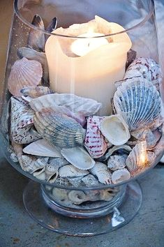 Easy DIY Seashell Coastal Style Candle Votive Mothers Day craft kids can make. A… Easy DIY Seashell Coastal Style Candle Votive Mothers Day craft kids can make. A great White Beach decor gift idea you can do for Mom's, GrandMother,… Continue Reading → Easy Diy Mother's Day Gifts, Diy Mothers Day Gifts, Mother's Day Diy, Seashell Projects, Seashell Crafts, Beach Crafts, Coastal Style, Coastal Decor, Coastal Living