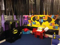 Superheroes role play area! Superhero Writing, Superhero Classroom, Superhero Ideas, Dramatic Play Area, Dramatic Play Centers, Classroom Displays, Classroom Themes, Indoor Activities For Kids, Summer Activities