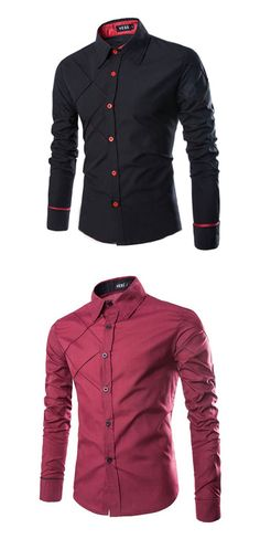 91f14e507a9   12.86  Men s Work Business   Casual Plus Size Cotton Slim Shirt - Solid  Colored Classic Collar   Long Sleeve   Spring   Fall