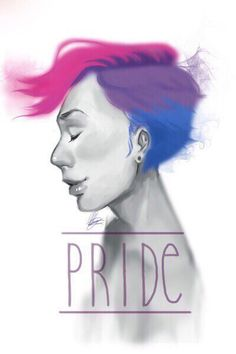 I have the exact same haircut without the dye!! lol ❤ #bipride